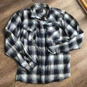 Men's Volcom plaid shirt size large